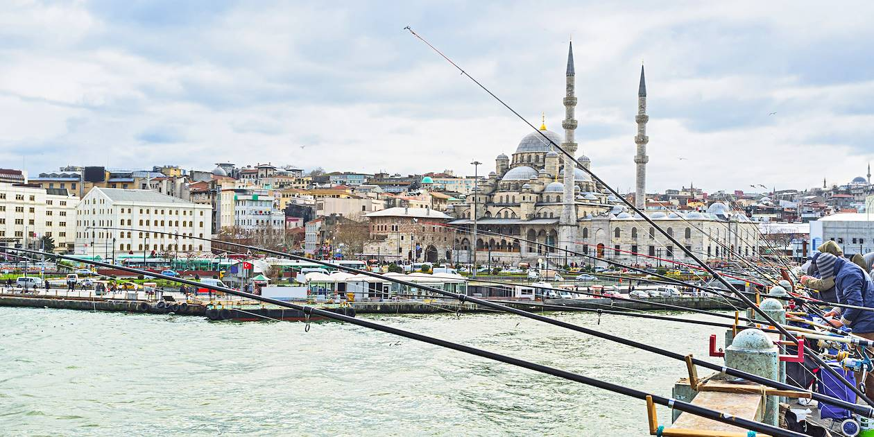 Pêcheurs du Bosphore - Istanbul - Turquie