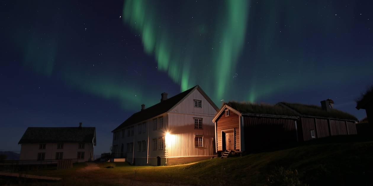 Aurore boreale à Bodoe - Lofoten - Norvège