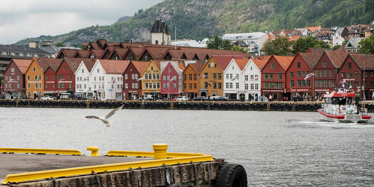 Dans le quartier de Bryggen - Bergen - Norvège