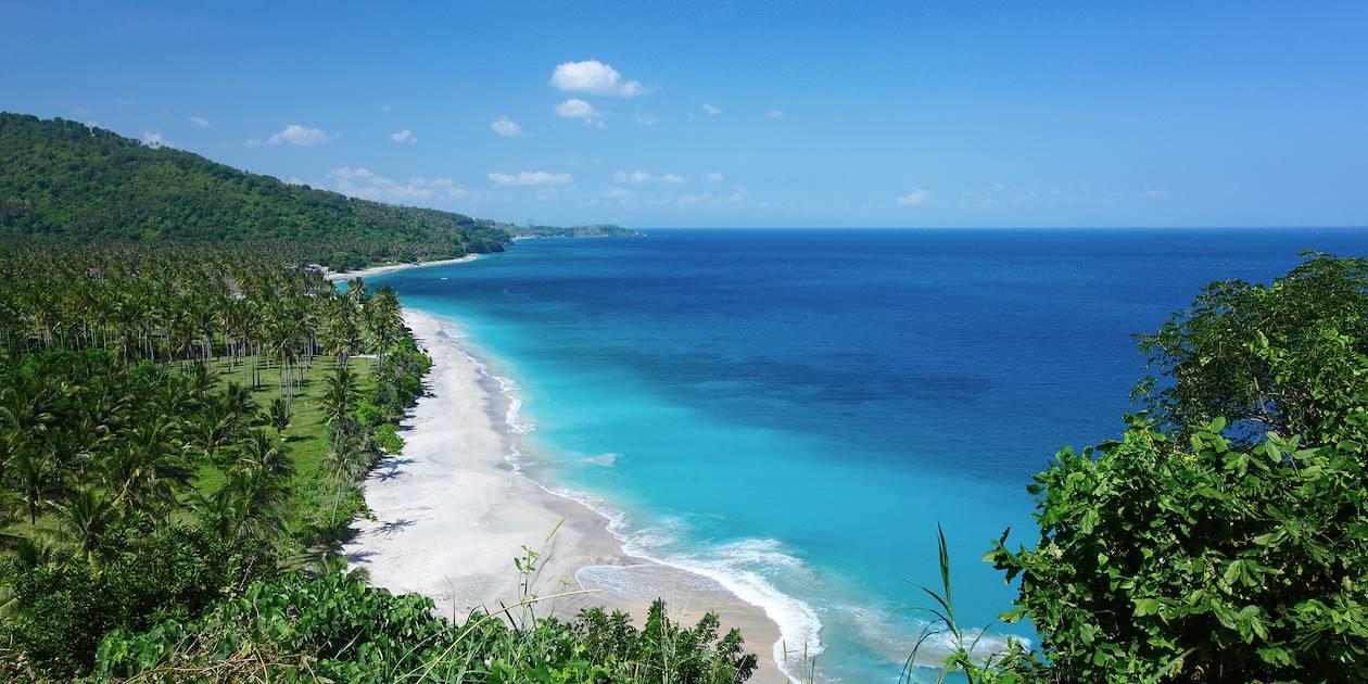 Plage sur l'île de Lombok - Indonésie
