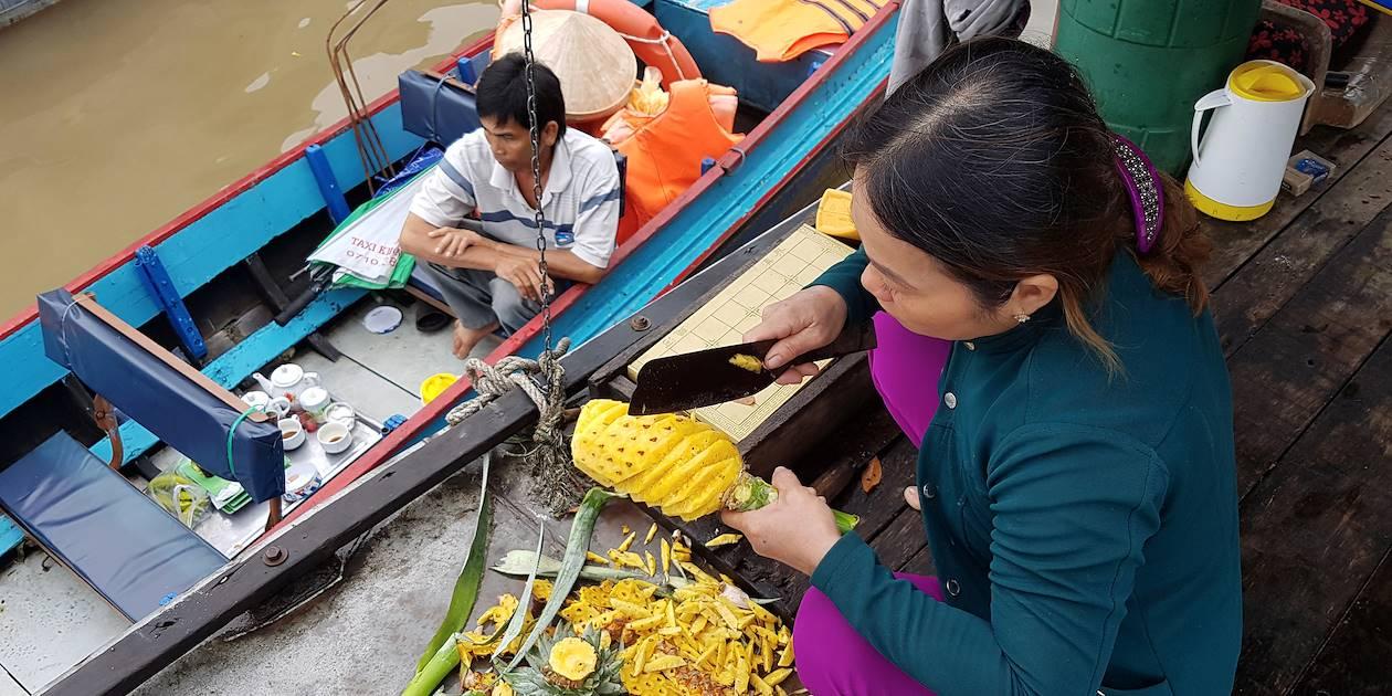 Marché flottant à Can Tho - Mekong - Vietnam