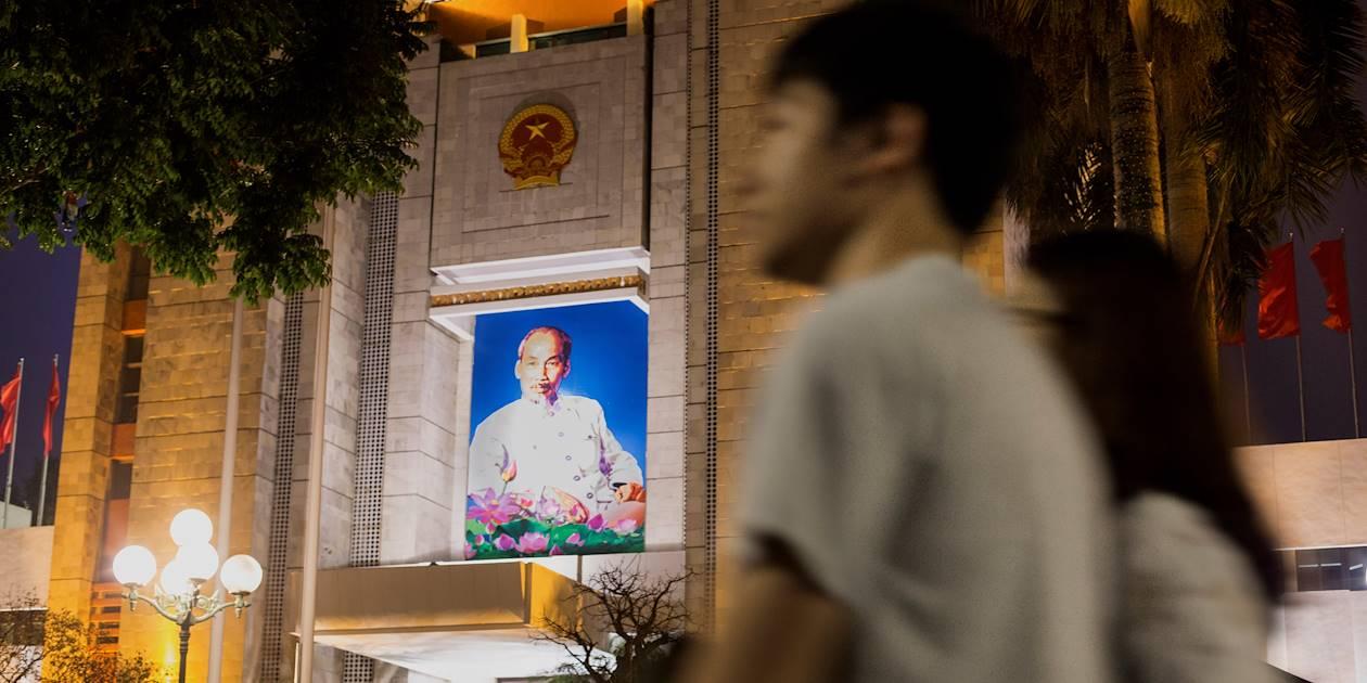 Portrait de Hô Chi Minh - Hanoï - Vietnam