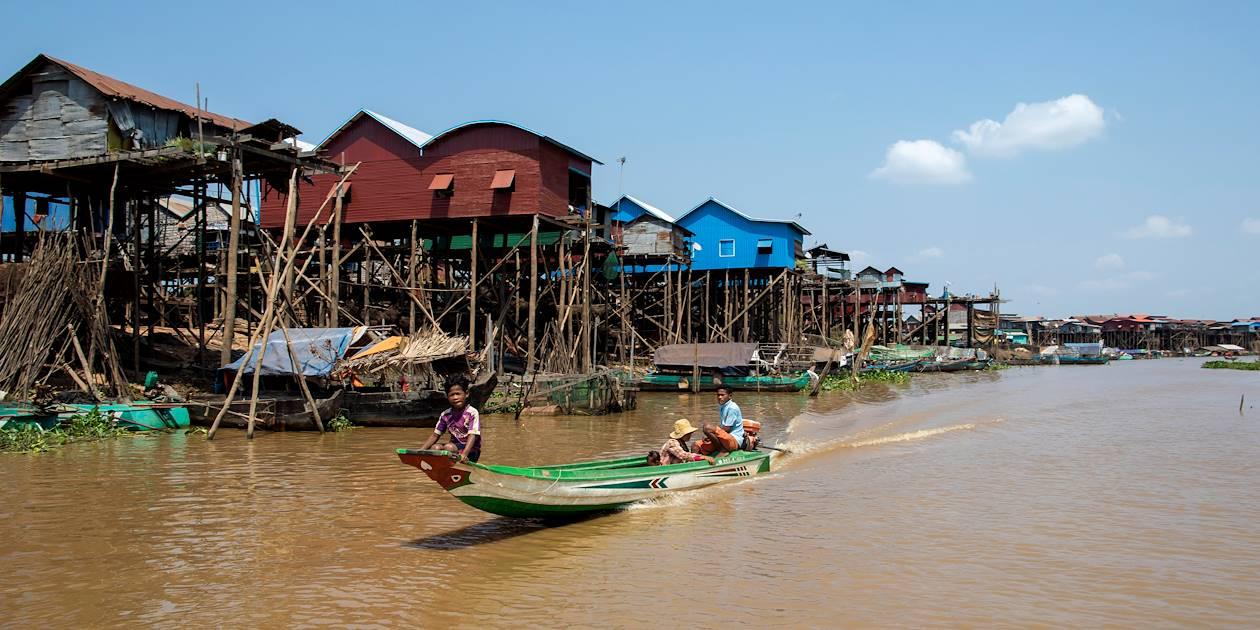 Découverte de Kompong Kleang, village de pêcheurs construit sur pilotis - Cambodge