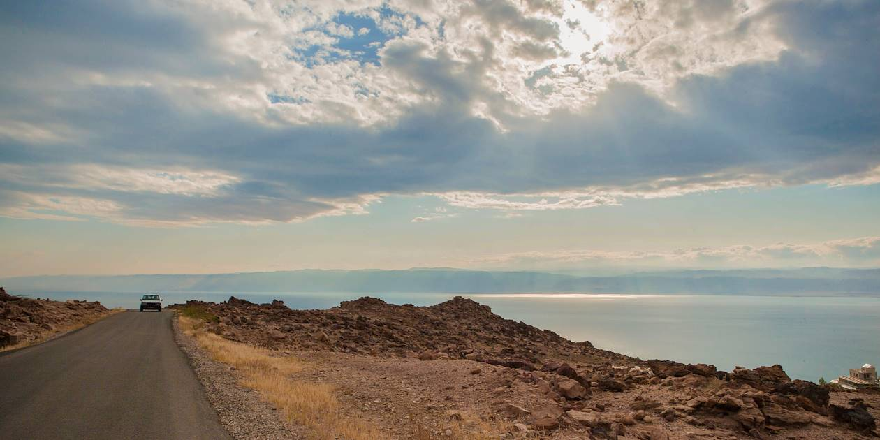 Paysage désertique et Mer Morte - Wadi Mujib - Jordanie
