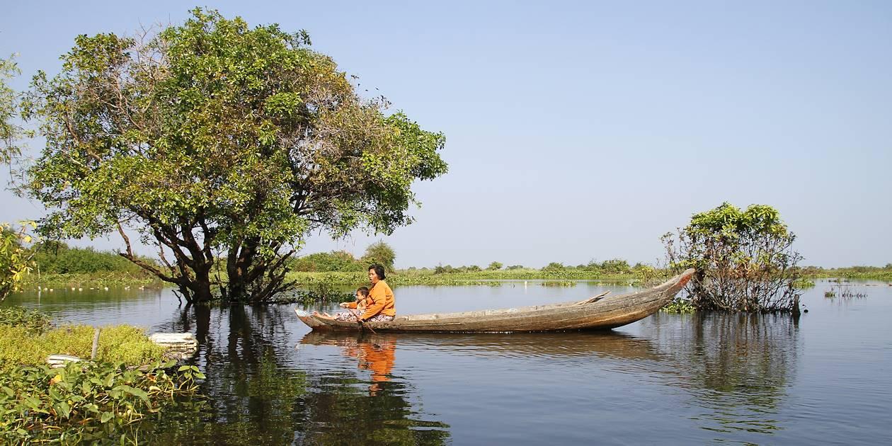 Sur le lac Tonlé Sap - Province de Siem Reap - Cambodge