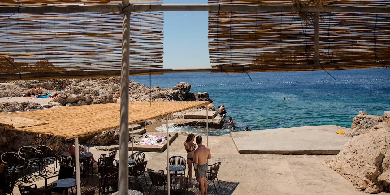 Baignade dans la mer Adriatique - Dubrovnik - Croatie