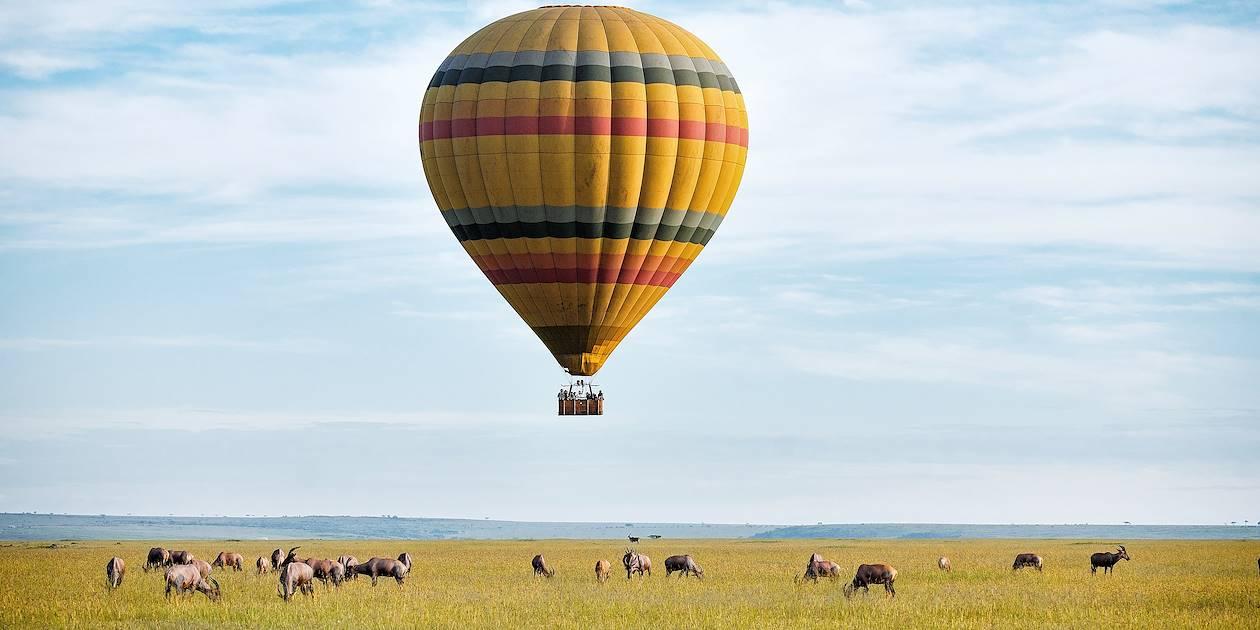 La réserve du Masaï Mara, vue du ciel en montgolfière - Kenya