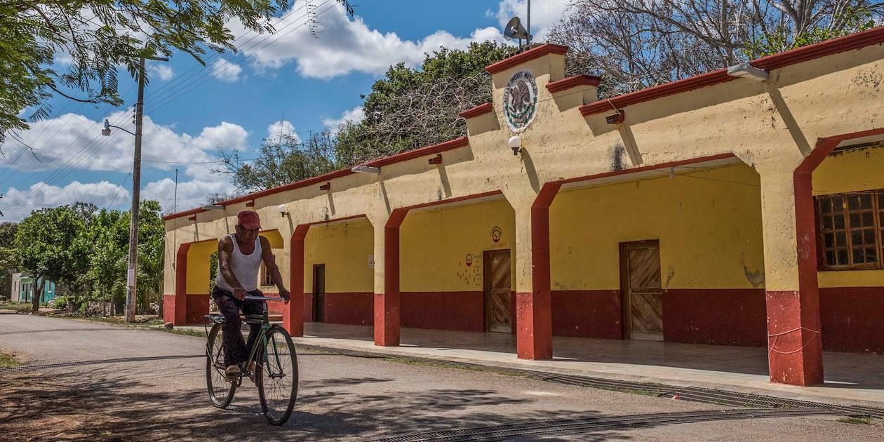 Vue générale du village de Yaxuna - Yaxuna - Yaxcaba - Yucatan - Mexique