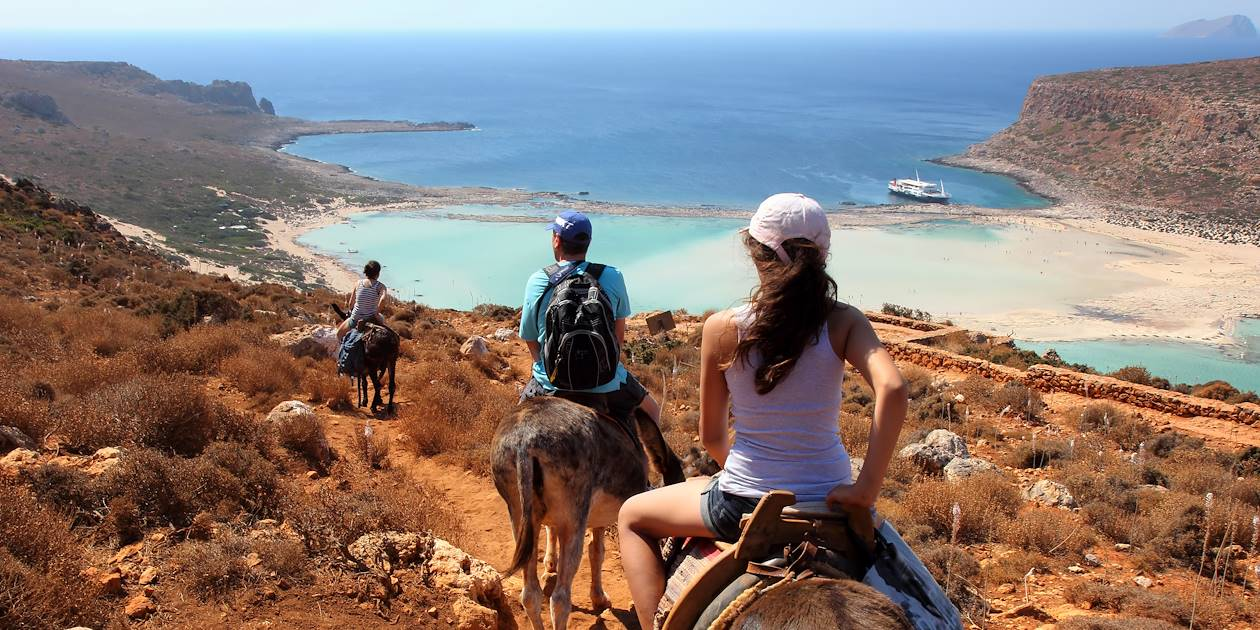 Randonnée à dos d'äne - Balos - Crète - Grèce