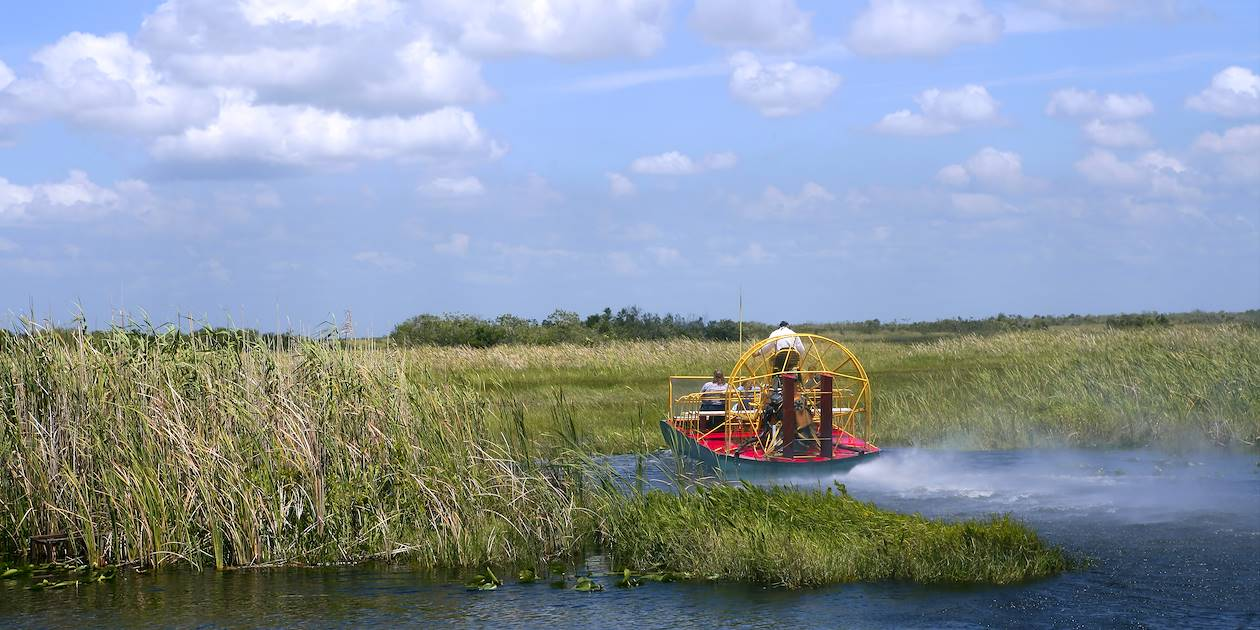 A bord d'un airboat dans les Everglades - Floride - Etats-Unis