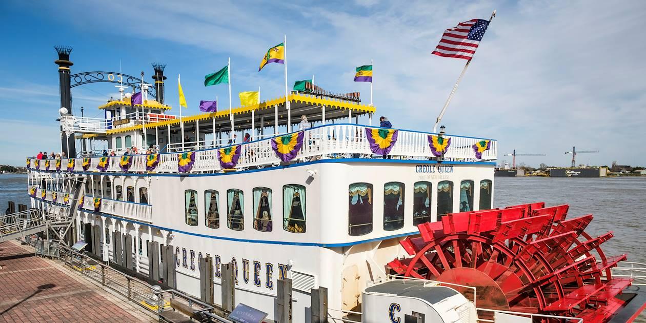 Traversée du Mississippi à bord d'un bateau à vapeur - Nouvelle Orléans - Louisiane - Etats Unis