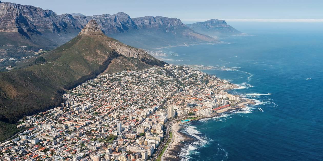 Vue aérienne de la ville du Cap - Afrique du Sud