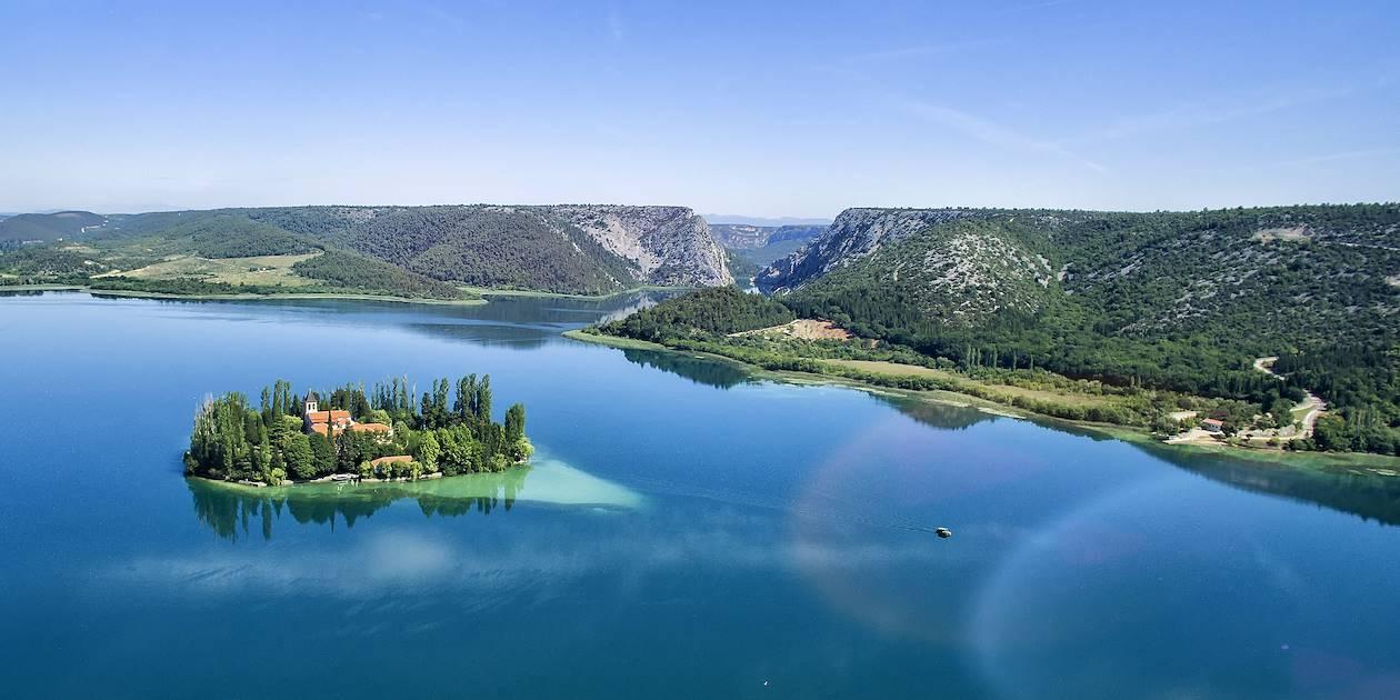 L'île de Visovac - Parc national de Krka - Croatie