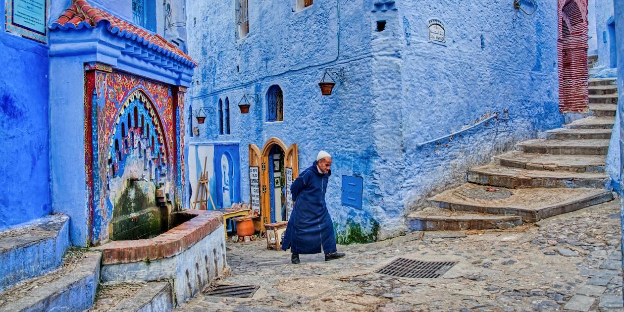 Dans une ruelle de Chefchaouen - Maroc