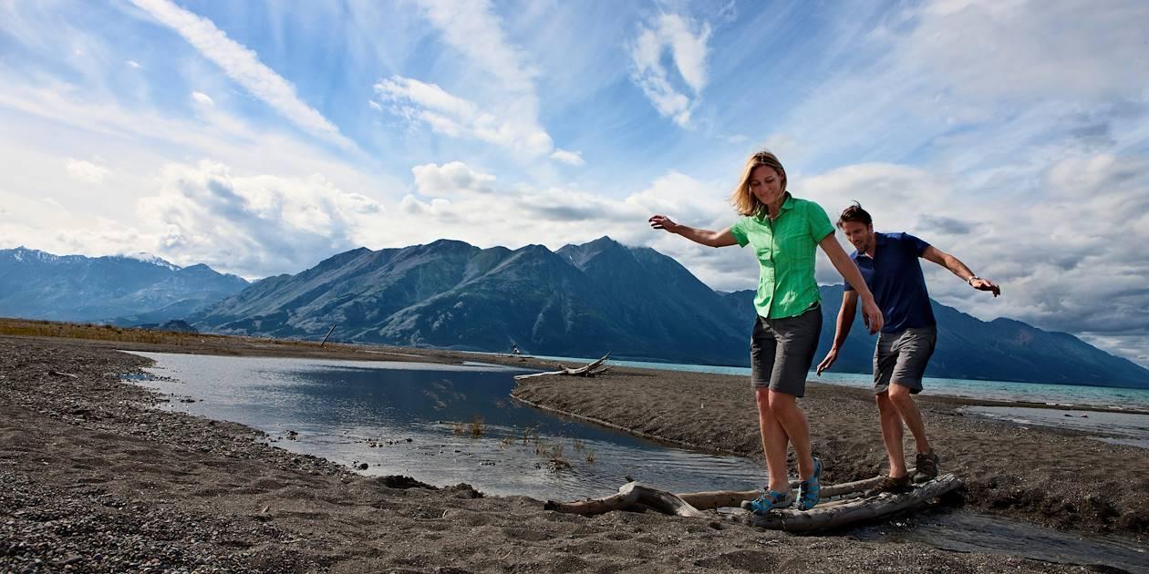 Randonnée dans le parc national Kluane - Yukon - Canada