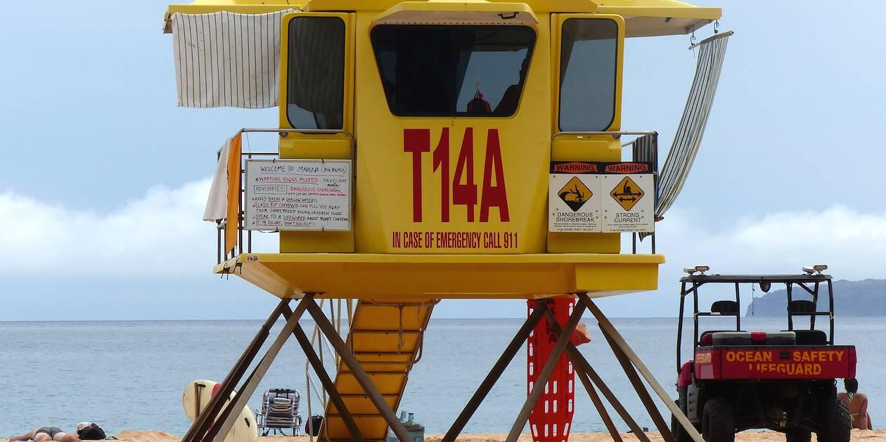 Cabine de sauveteur en mer - Côte ouest - Maui - Hawaï