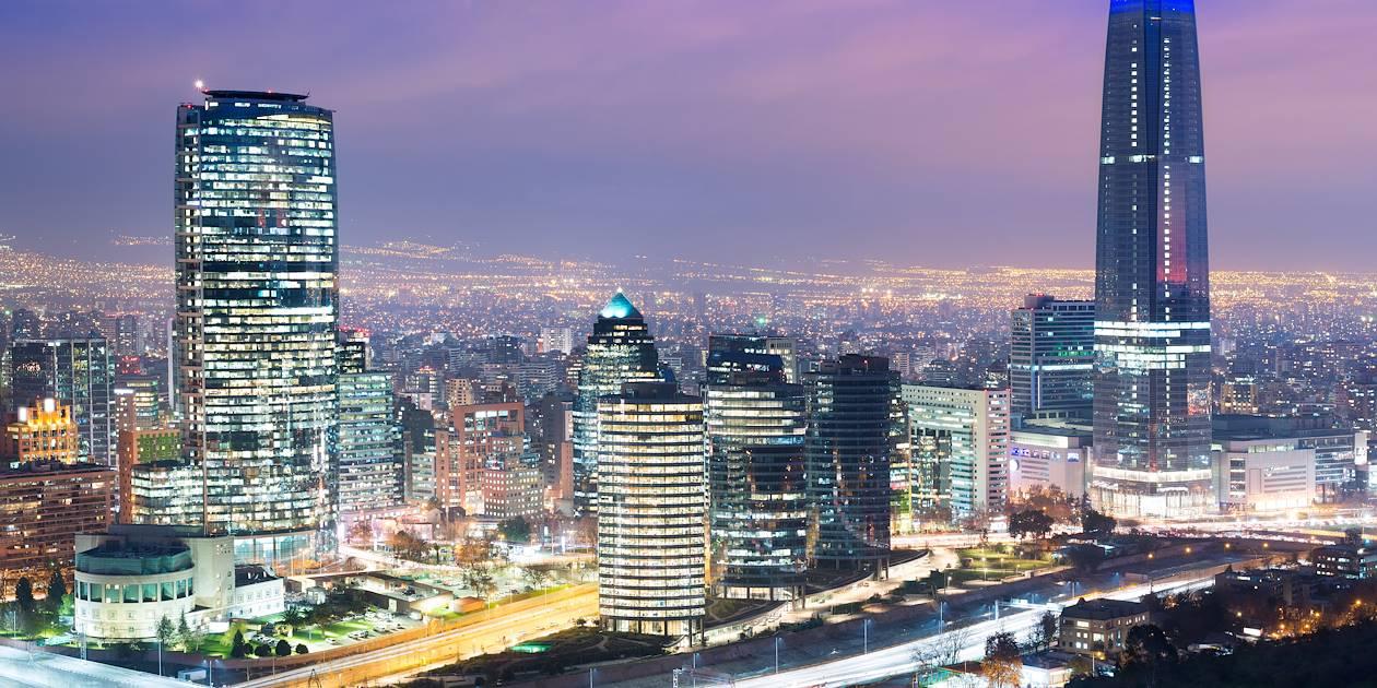 Santiago de nuit - Vallée Centrale - Chili