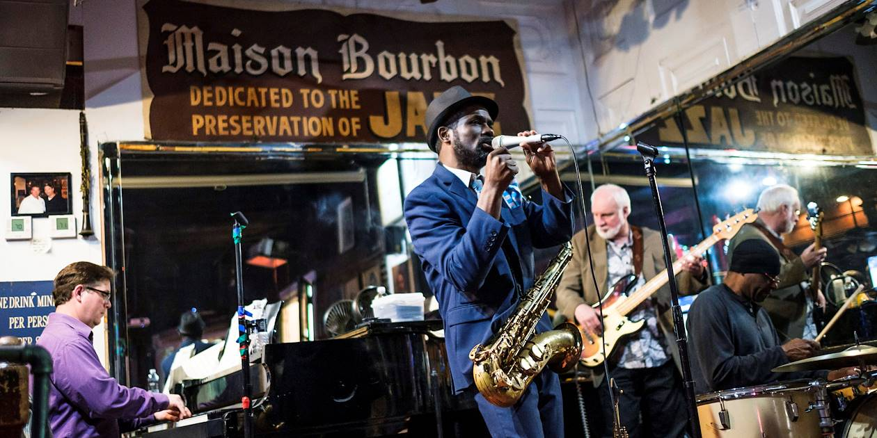 Concert de jazz dans un club - Nouvelle Orléans - Louisiane - Etats Unis