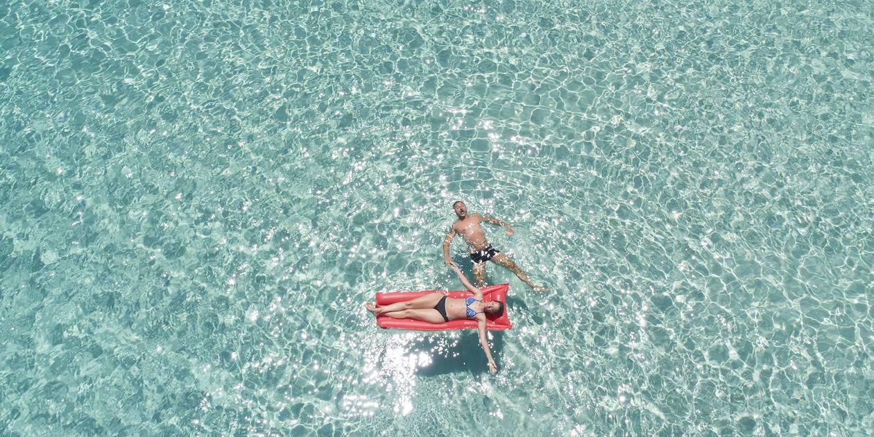 Nage en eau turquoise - Formentera - Les Baléares - Espagne