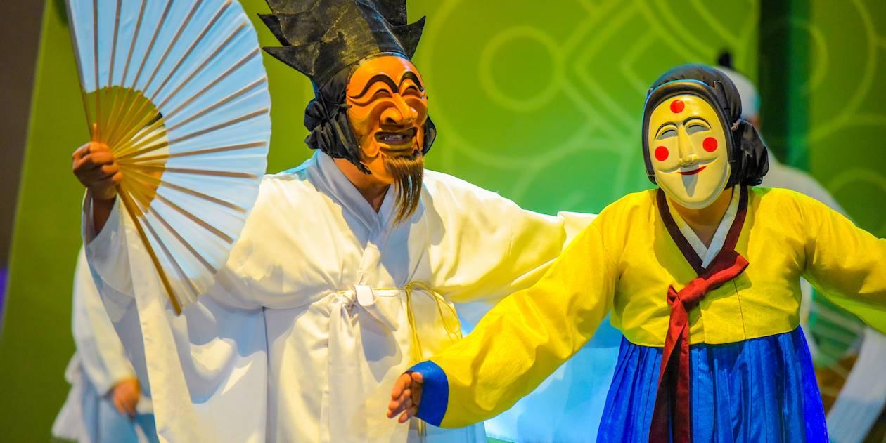 Danse masquée traditionnelle à Hahoe - Corée du Sud