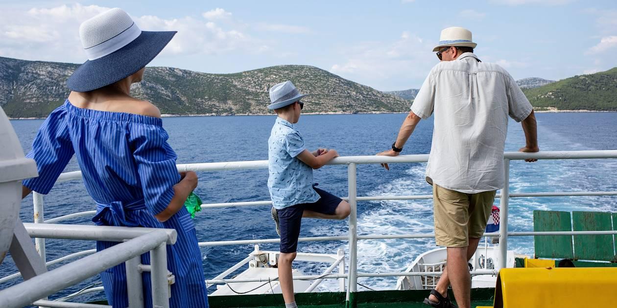 A bord du ferry entre le continent et l'Île de Mljet - Croatie