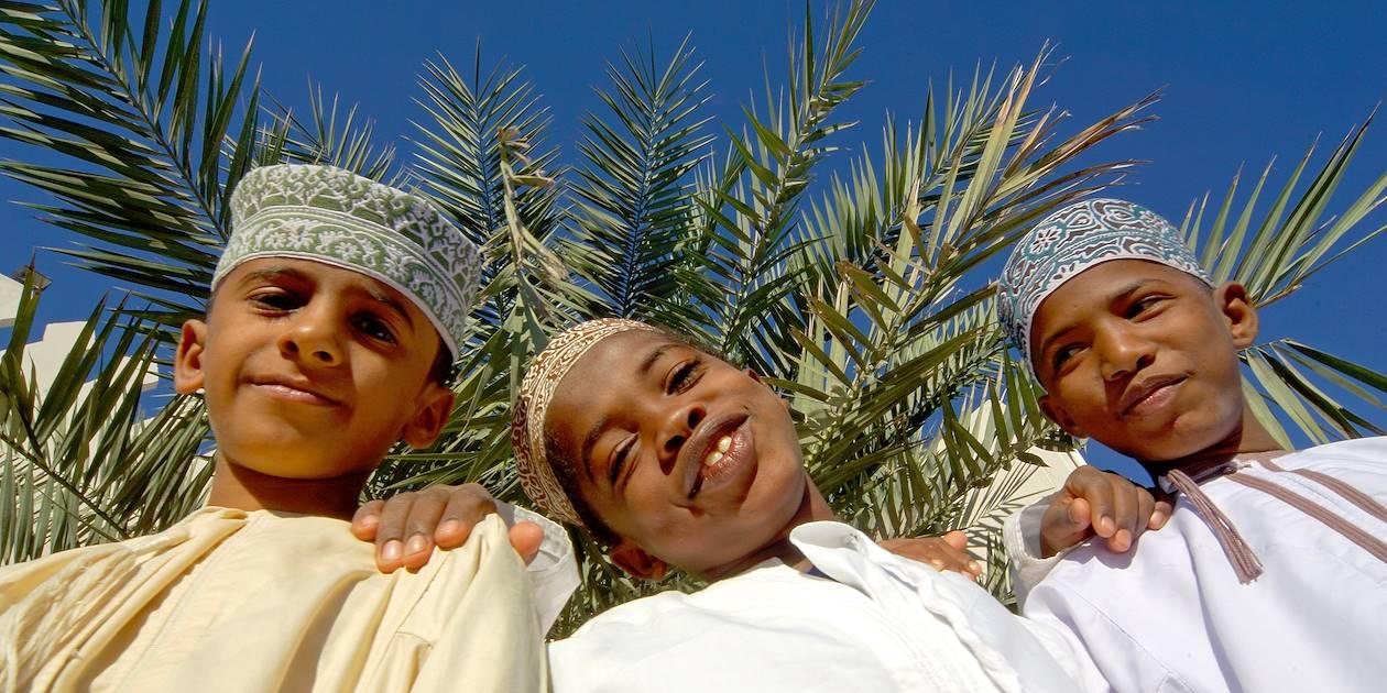 Portrait d'enfants à Oman