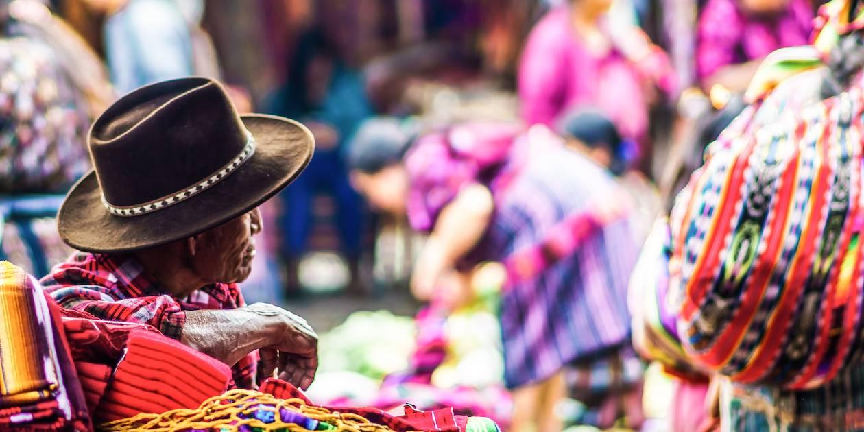 Marché de Chichicastenango - Département de Quiché - Guatemala