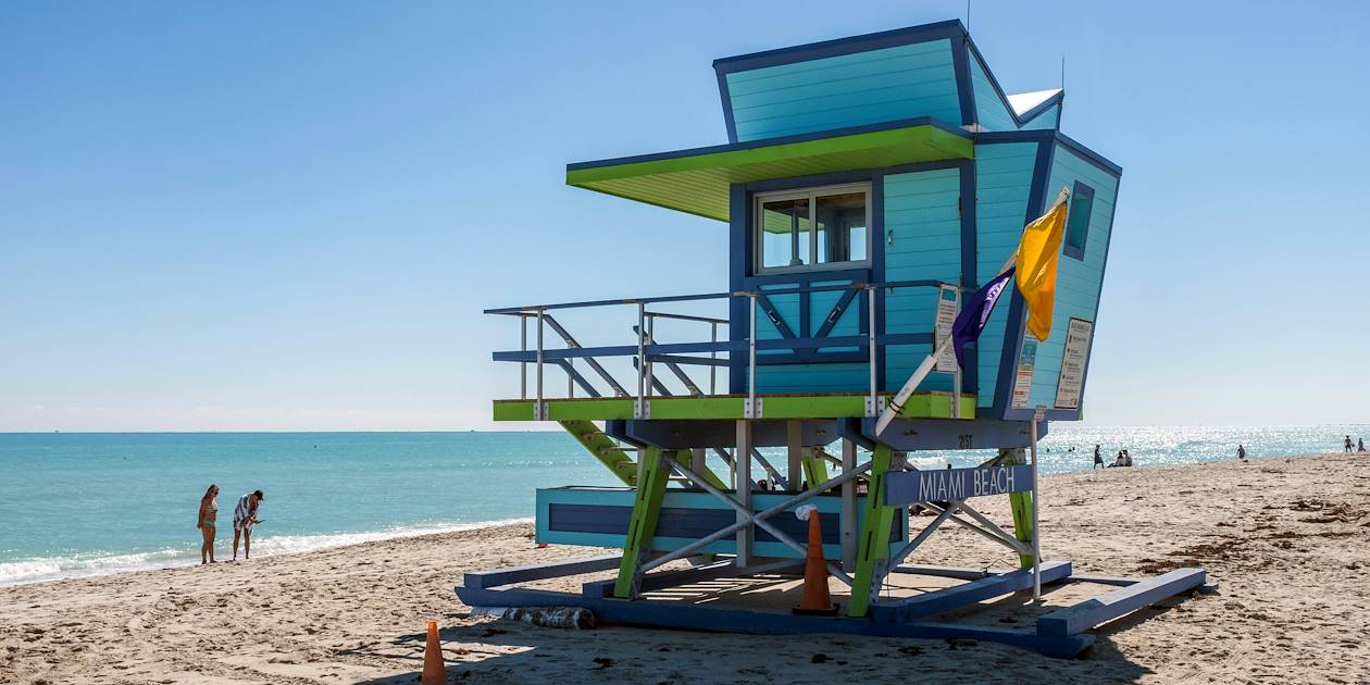 Plage de South Beach - Miami Beach - Floride - Etats-Unis