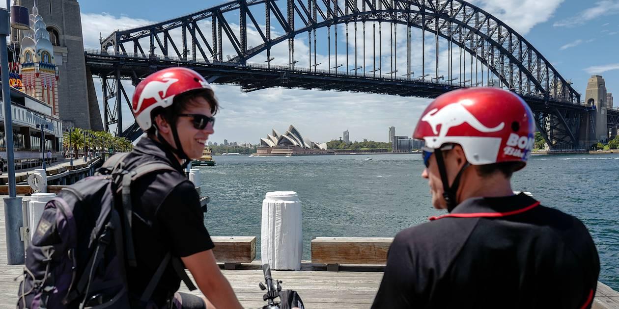 Balade à vélo dans Sydney : le Harbour Bridge - Australie