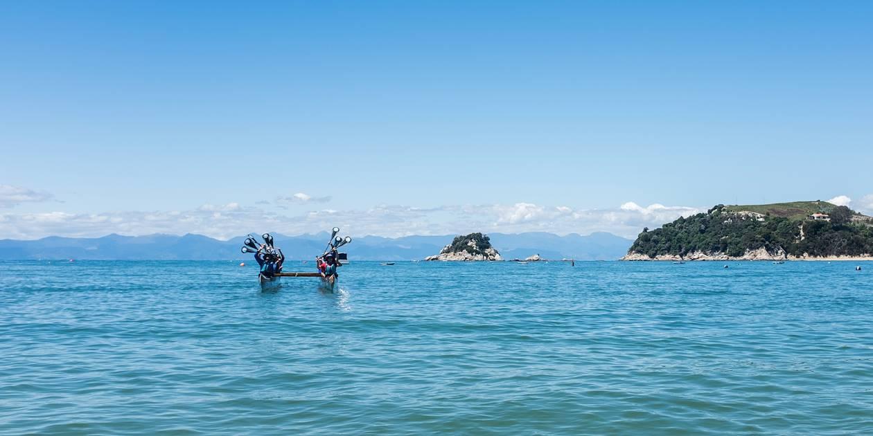Initiation au Waka - Kaiteriteri - Île du Sud - Nouvelle Zélande