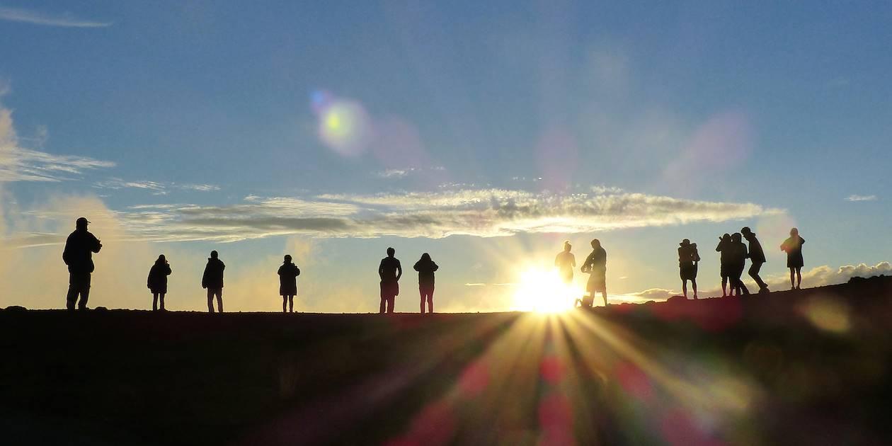 Coucher de soleil sur Haleakala National Park - Hawaï