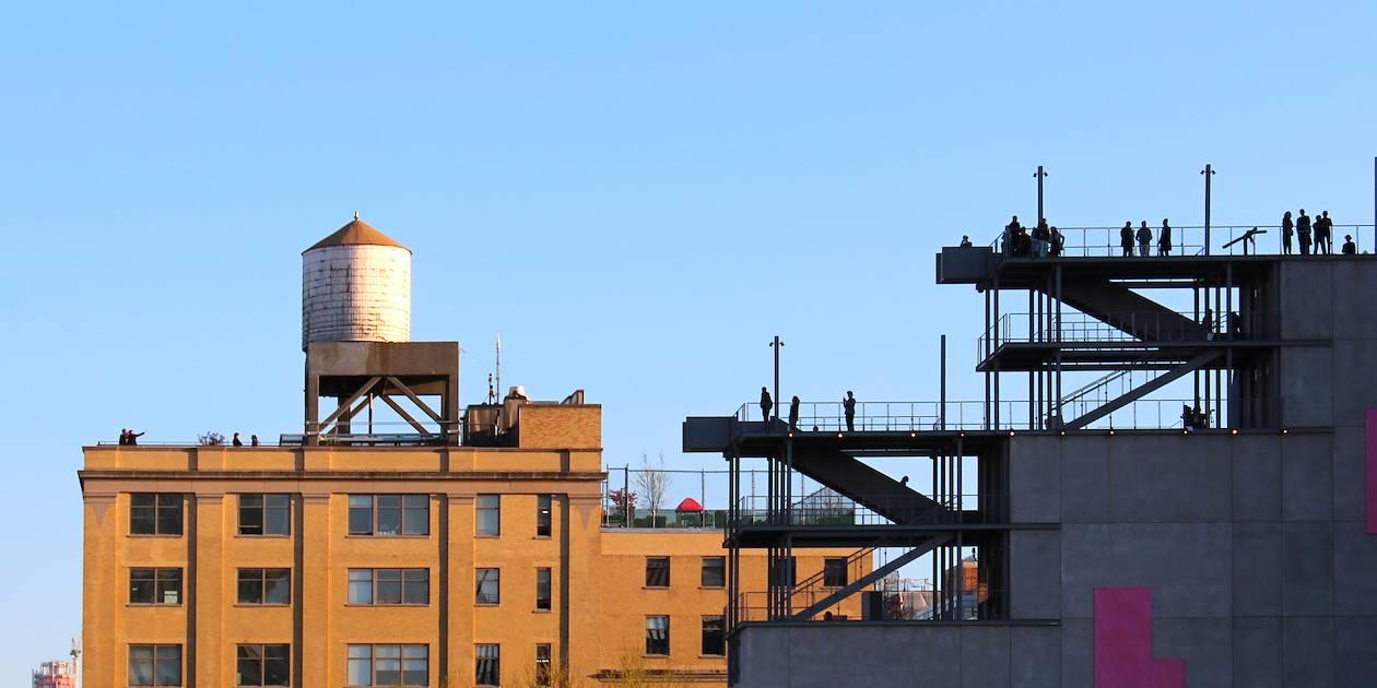 La terrasse du Whitney Museum - Chelsea - Manhattan - New York - Etats Unis