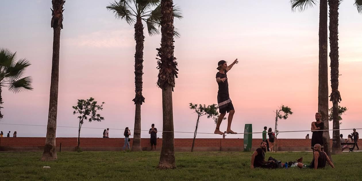 Coucher de soleil sur la côte Pacifique - Lima - Pérou