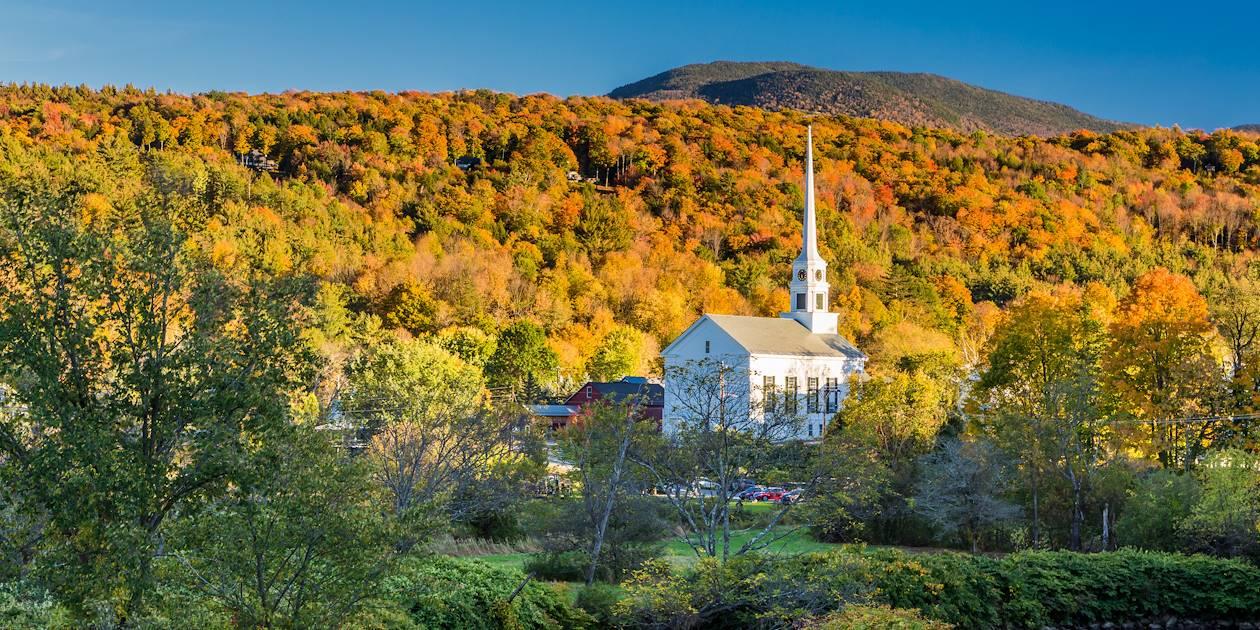 Vue de l'église de Stowe - Vermont - Etats-Unis