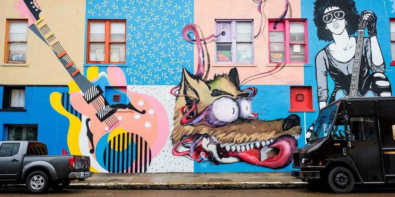 Street art à Clarksdale, berceau du blues - Mississippi - Etats Unis