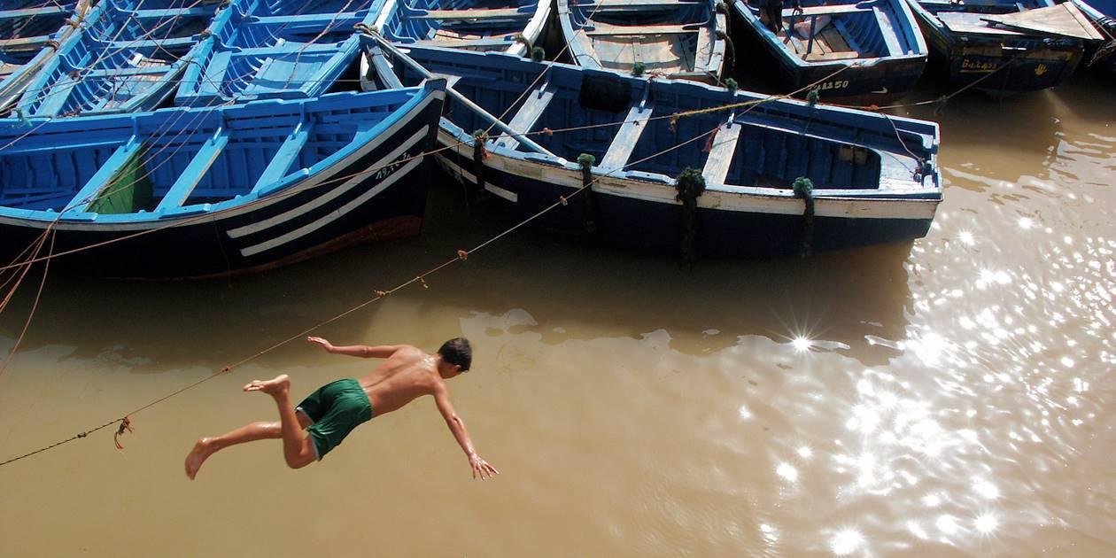Plongeon dans l'océan - Essaouira - Maroc