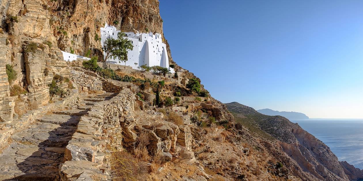 Monastère de la Panaghia Chozoviotissa sur l'île d'Amorgos - Cyclades - Grèce