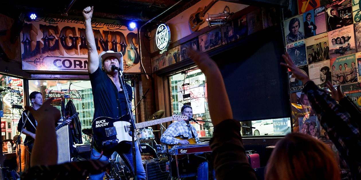 Concert de country dans un bar de Nashville - Tennessee - Etats Unis