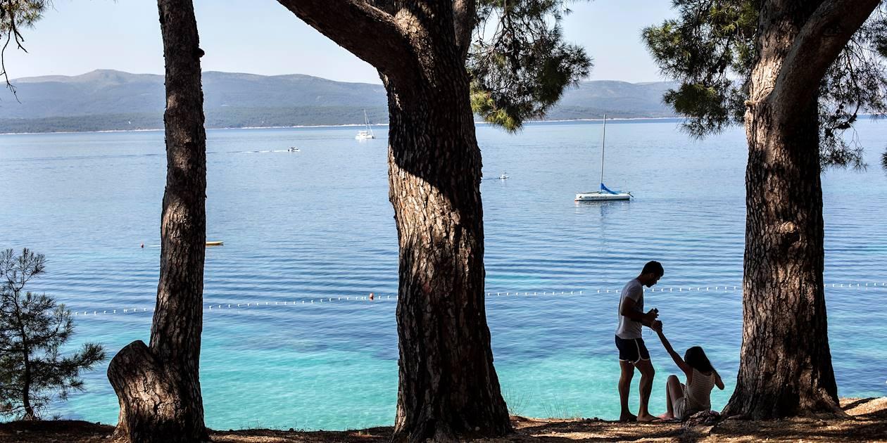 Plage Zlatni Rat à Bol - Île de Brac - Croatie