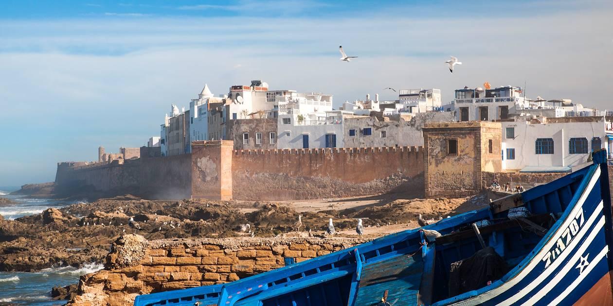 Vue de la médina d'Essaouira depuis le port - Maroc