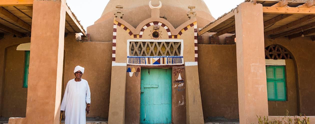 Eskaleh Nubian Ecolodge : portrait de Fikri, le propriétaire - Abou Simbel - Égypte