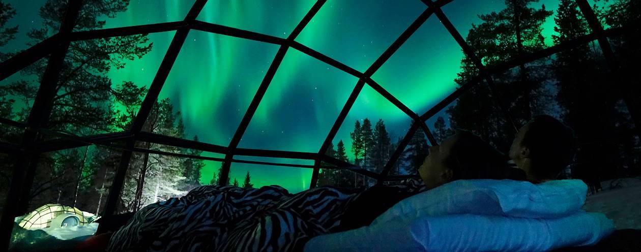 Nuit dans un igloo de verre - Laponie - Finlande