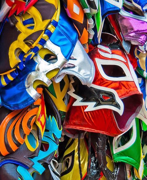 Masques de Lucha Libre, catch mexicain - Mexico - Mexique