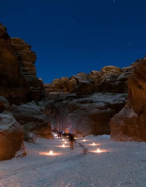 Petra by night - Petra - Jordanie