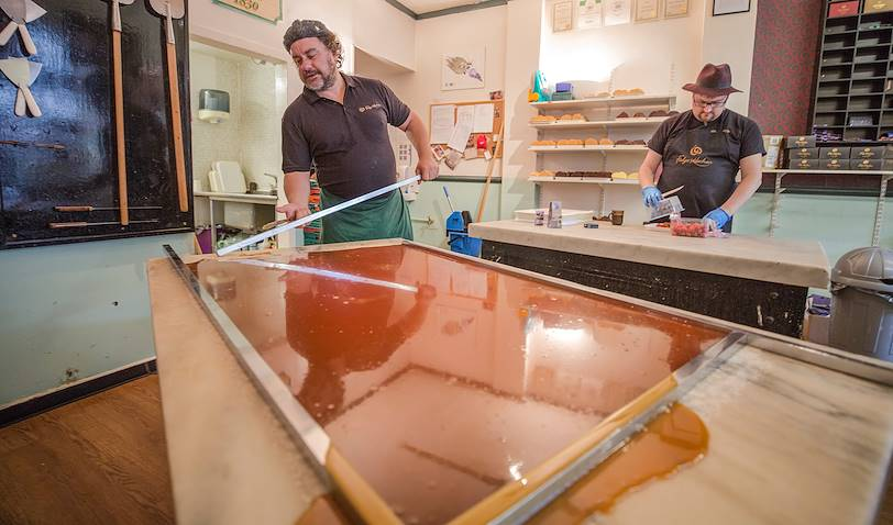 Fabrication du fudge - Edimbourg - Ecosse