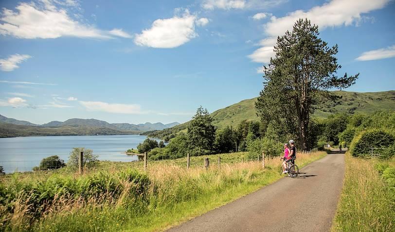 Balade à vélo autour du Loch Katrine - Région des Trossachs - Ecosse