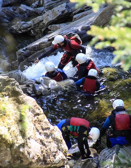 Canyoning dans le Perthshire - Ballinluig - Ecosse - Royaume Uni