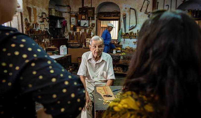 Atelier familial de fabrication de coffres arabes : le Popat Mulji & Sons - Stone Town - Zanzibar Vieille Ville - Tanzanie