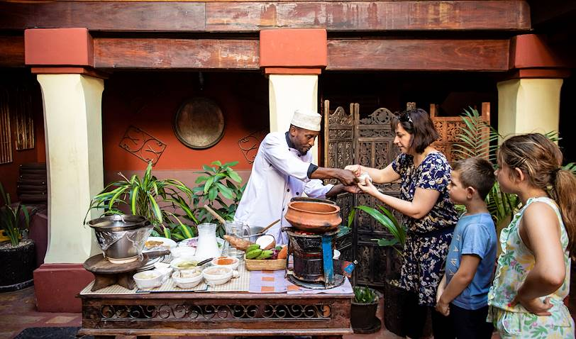 Cours de cuisine et déjeuner au Jafferji House - Stone Town - Zanzibar Vieille Ville - Tanzanie