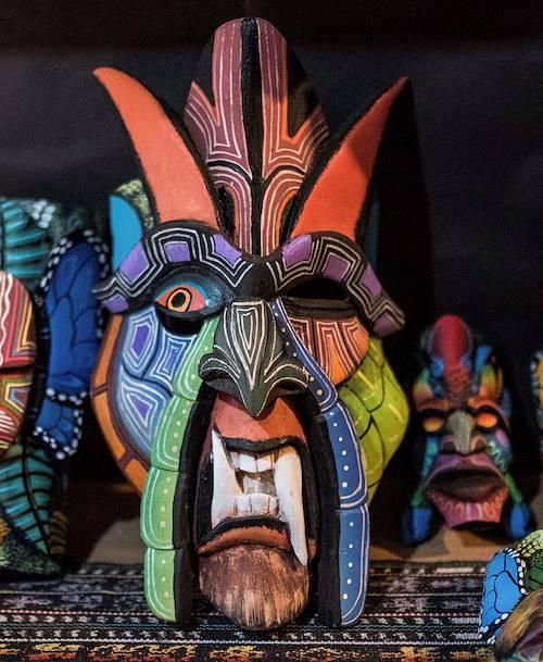 Masques traditionnels de la communauté Boruca - Boruca - Vallée Centrale - Costa Rica
